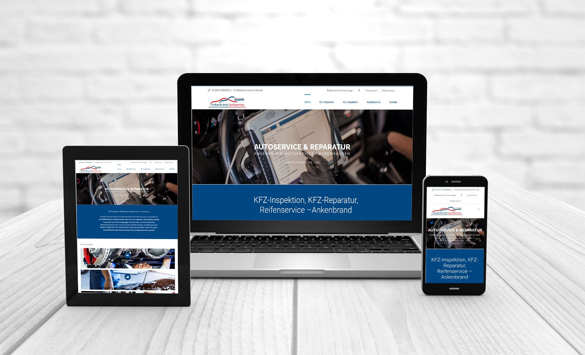 Professional web design, reference Ankenbrand Autoservice