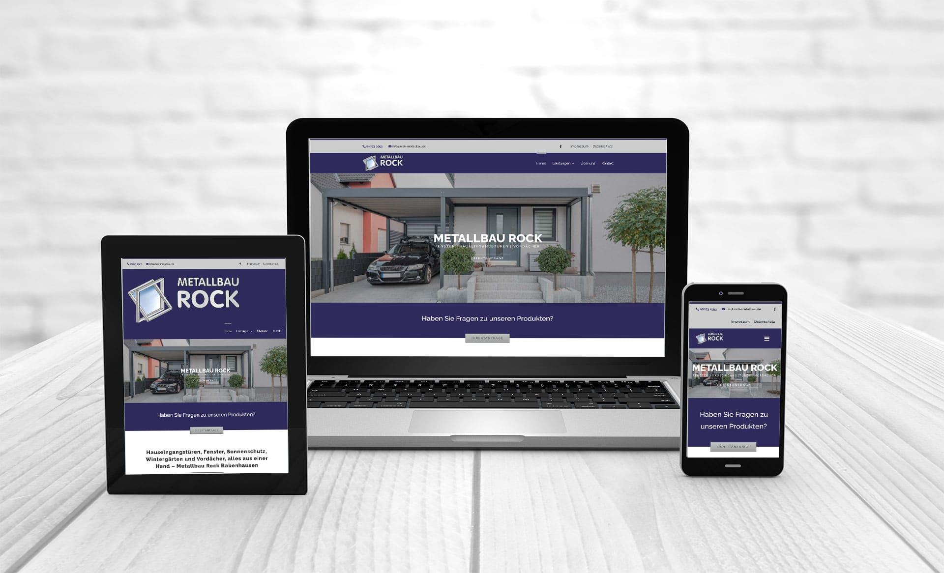 Professionelles Webdesign Webseite erstellen Rock Metallbau Babenhausen