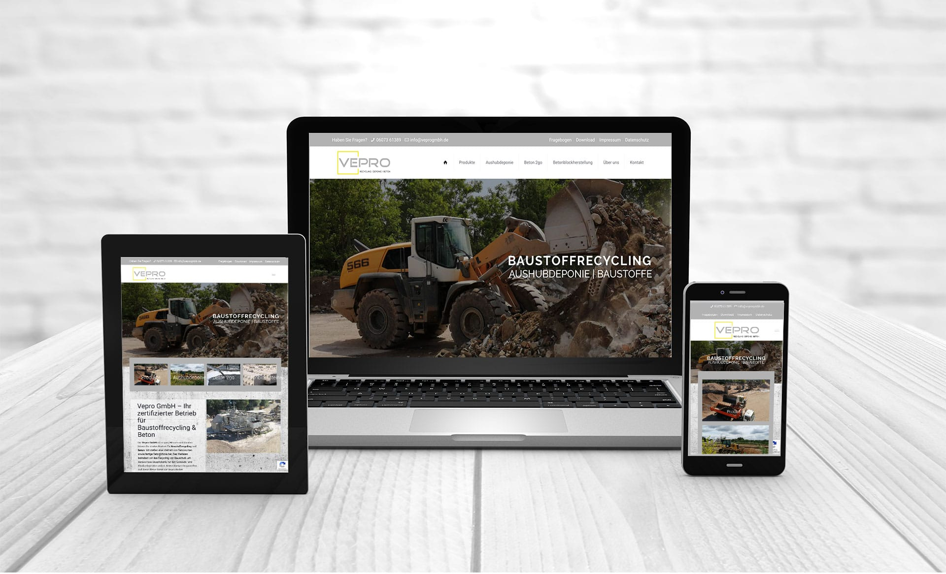 Professional web design, references Vepro-GmbH