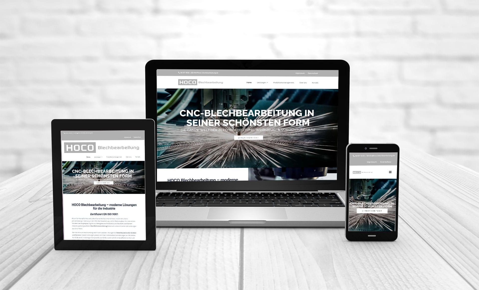 Professional web design, Hoffmann GmbH & Co. KG | HOCO sheet metal processing