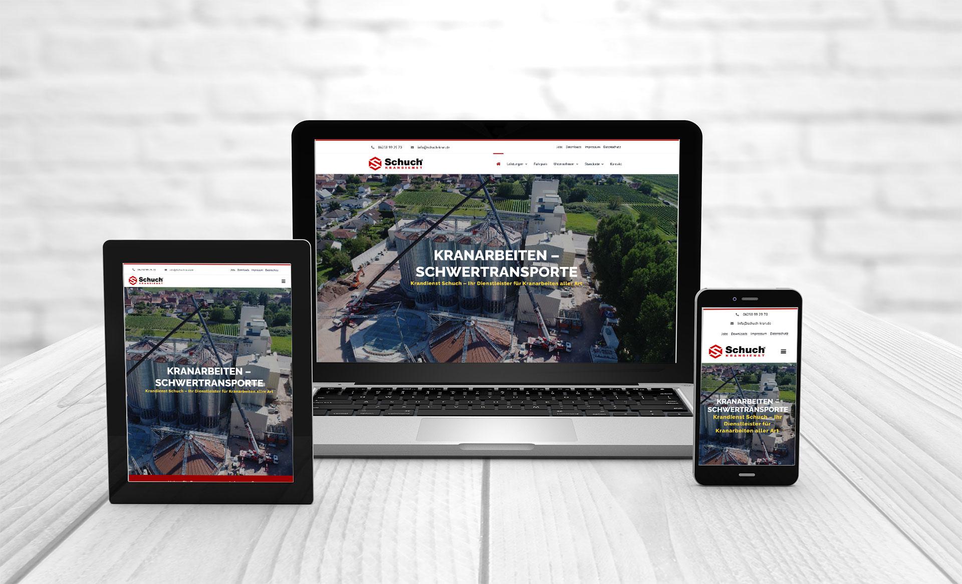 Web design create website Schuch Kran